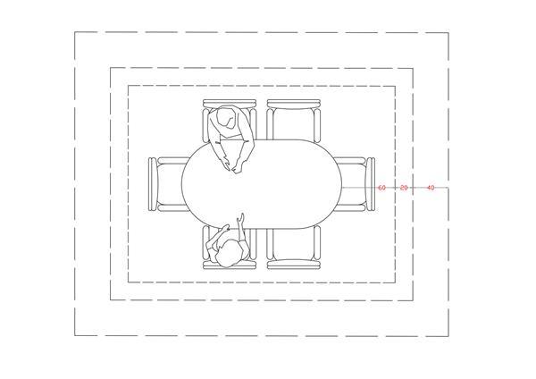 Schema sistemazione Dining Room